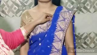 Saree draping for karwachauth 2017