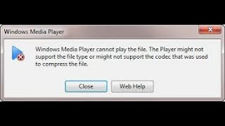 How to play any media file in window media player in just few seconds,100% PROBLEM SOLVED