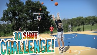 THIS WAS SO FUNNY!! - REAL LIFE 10 SHOT CHALLENGE!! 1v1v1v1 IRL Backetball Challenge
