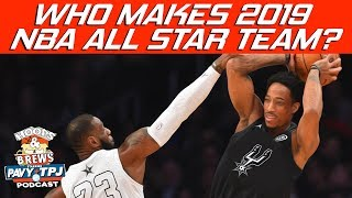 Who Starts In 2019 NBA All-Star Game ? | Hoops N Brews