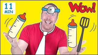 Jobs for Kids + MORE Fun Speaking Stories for Children from Steve and Maggie | Learn Wow English TV