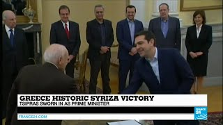 GREECE - Alexis Tsipras sworn in as Prime Minister after Syriza's landslide victory