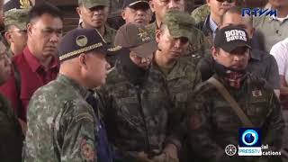 Philippine president visits Jolo Cathedral attack site