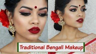 Traditional Bengali Makeup Tutorial |Collab w/ Irene Mahmud Khan