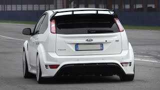 Ford Focus RS Mk2 Sound - Accelerations, Fly Bys, Backfires & More!