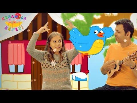 Mini Mini Bir Kuş donmuştu Karamela Sepeti Çocuk Şarkıları