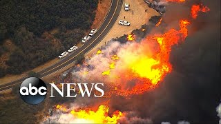6 California wildfires burn out of control