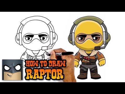 Xxx Mp4 How To Draw Raptor Fortnite Art Tutorial 3gp Sex