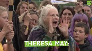 Dancing Dame: Vivienne Westwood joins anti-fracking protests