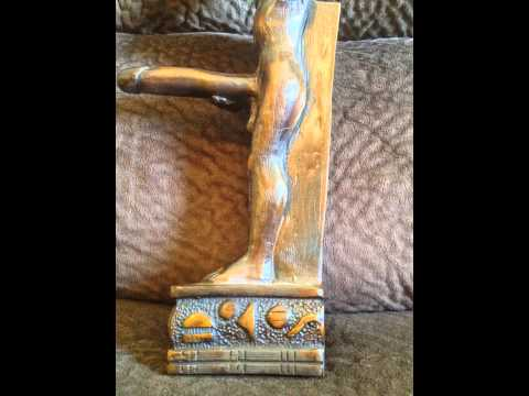 Ancient Egyptian fertility God Min with erect penis History Statue Egypt