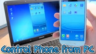 How to control your phone from your PC or Laptop using Mobizen - 2016