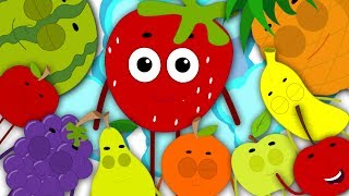 Fruits Ten In The Bed | Fruits Song | Learn Fruits | Nursery Rhymes | Kids Songs