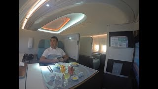Korean Air B747-8 First Class Review Hong Kong to Incheon