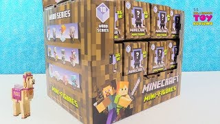 Minecraft Wood Series 10 Mini Figures Full Set Unboxing Toy Review | PSToyReviews