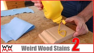 Weird Wood Stains #2: Coloring wood with Kool-Aid, Mustard, and MORE