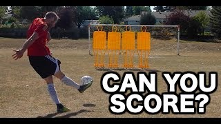 How to shoot a free kick in soccer | How to take a freekick | Free kick technique tutorial
