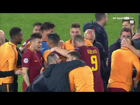 Incredible scenes as Roma complete historic Champions League comeback!