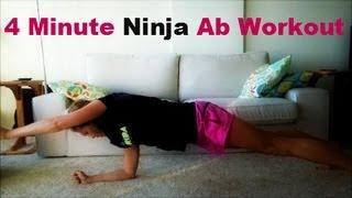 4 Minute Ninja Ab Workout - #CleanandLean - RunToTheFinish