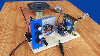 How to make simple 12W amplifier circuit IC D2030A   Audio Amplifier