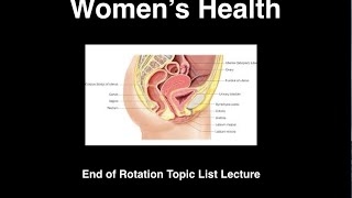 Women's Health Blueprint  End of Rotation Lecture Video EOR Preview