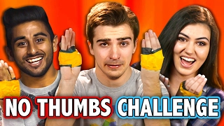 NO THUMBS CHALLENGE (ft. React Cast) | Challenge Chalice