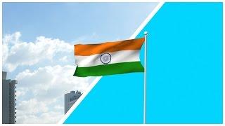 Indian Flag Free HD Blue/Green Screen