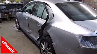 VW Jetta - Repairing side doors and quarter panel damage