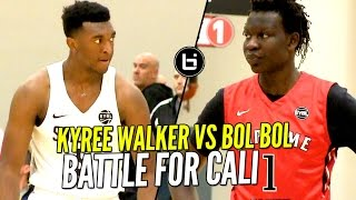 Bol Bol vs Kyree Walker BATTLE For Cali Bragging Rights at Nike EYBL!!