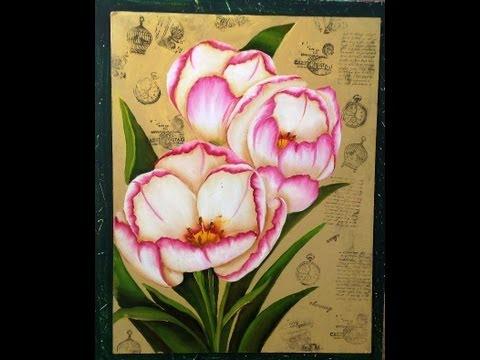 Como pintar flores Tecnica americana