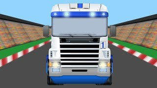 Truck Race for Kids - Video for Kids