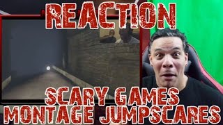 SCARY GAMES MONTAGE (JUMPSCARES) By KSI REACTION
