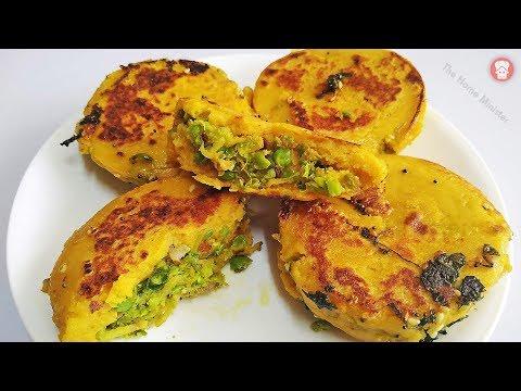 बनाएं गेंहू के आटे का नया और चटपटा नाश्ता बहुत कम तेल से atta matar pattice atte ka nasta recipe