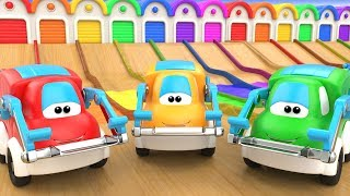 Learning Colors for Children with Cute Cars Color Water Slider Track 3D Kids Toddler Educational