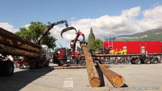 Self loading timber truck trailer Expo Camion Chambéry France 2017 (Full video)