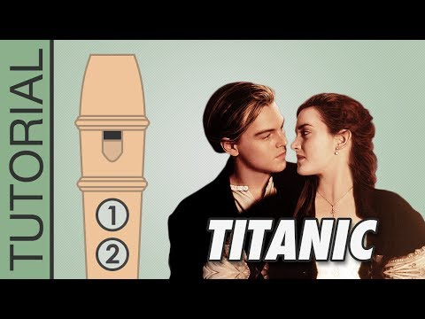 Titanic: My Heart Will Go On - Recorder Notes Tutorial