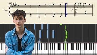 Troye Sivan - BITE - Piano Tutorial + Sheets