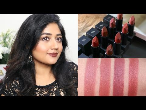 Swatches : Nykaa So Matte Nude Lipsticks | corallista