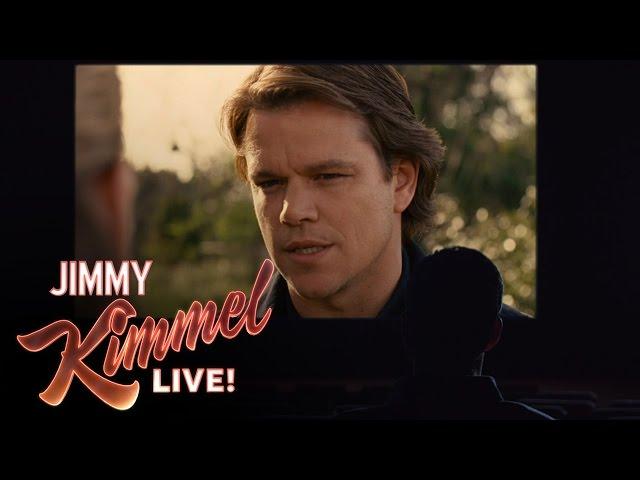 Jimmy Kimmel's Tribute to Matt Damon at the Oscars
