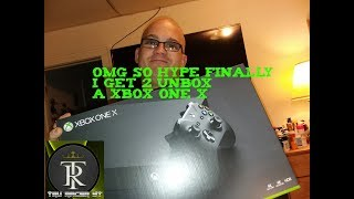 OMG So Hype I Finally Got A Xbox One X Don't Miss My Amazing Unboxing Video & I Dance Like A Fool