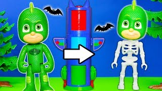 PJ MASKS Disney Romeo and Gekko Breaks the Spooky Transforming Tower Toys