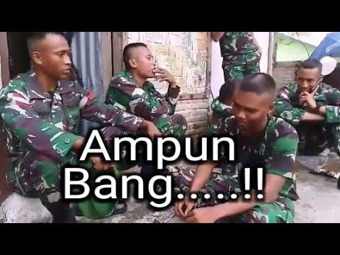 Aksi Kocak TNI !! Senior Kepada Junior...