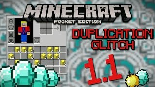 Duplicate any item in MCPE 1.1 | Duplication Glitch