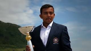 Prithvi Shaw at Mount Maunganui the morning after the U19CWC Final