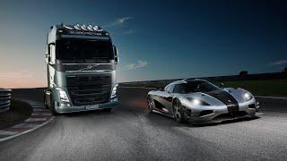 Volvo Trucks - Volvo Trucks vs Koenigsegg: a race between a Volvo FH and a Koenigsegg One:1