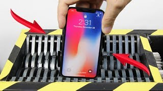 Experiment Shredding Apple Iphone X So Satisfying | The Crusher