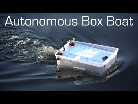 Autonomous Box Boat Long Range Waypoint Mission RCTESTFLIGHT
