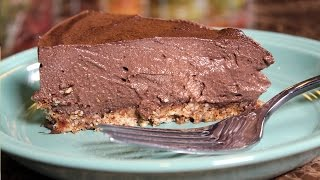 Best Plant Based Vegan Sugar Free Chocolate Cheesecake:  Whole Food Plant Based Recipe