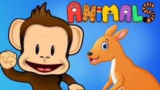 Kids Learn About Animals, Colors & Letters - Monkey Preschool Animals Educational Games For Kids