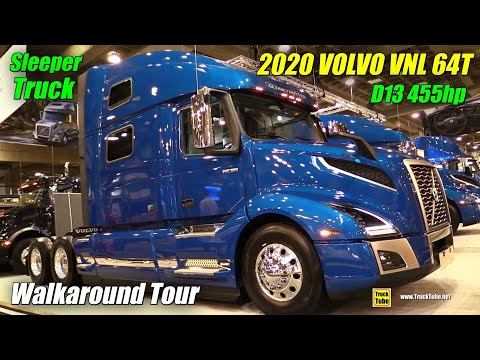 2019 Volvo VNL 64T 860 D13 455hp Sleeper Exterior and Interior Walkaround 2019 Expocam Montreal