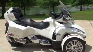 HD VIDEO 2014 CAN AM SPYDER RT LIMITED PEARL WHITE USED FOR SALE SEE WWW SUNSETMOTORS COM